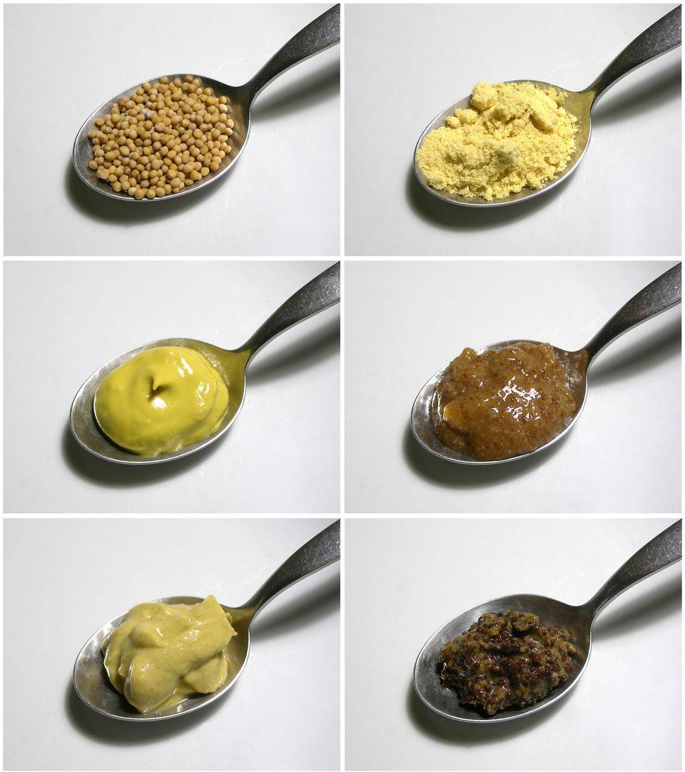 Mustard varieties on spoons