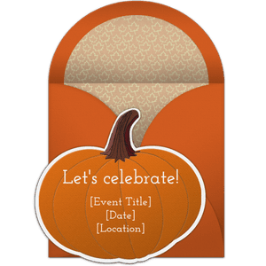 Free online halloween party invitations a pumpkin shaped halloween party invitation stopboris Gallery