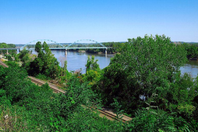 The Missouri River in Leavenworth, Kansas