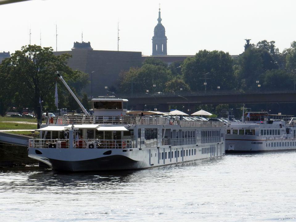Viking Beyla Elbe River cruise ship in Dresden, Germany
