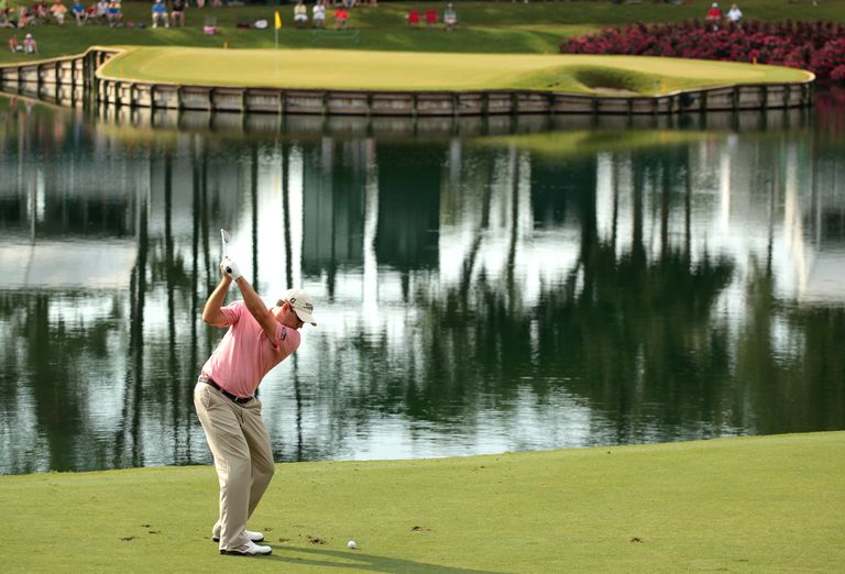 Ben Curtis hits his tee shot on the 17th hole during the third round of the 2011 Players Championship