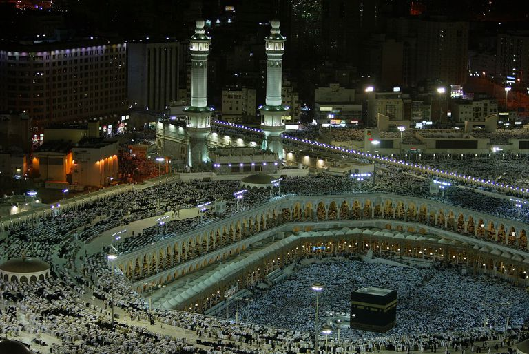 Pilgrims circle the sacred Kaaba in Mecca.