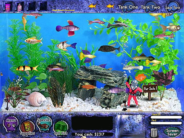Fish games pc about sim games for Gold fish game