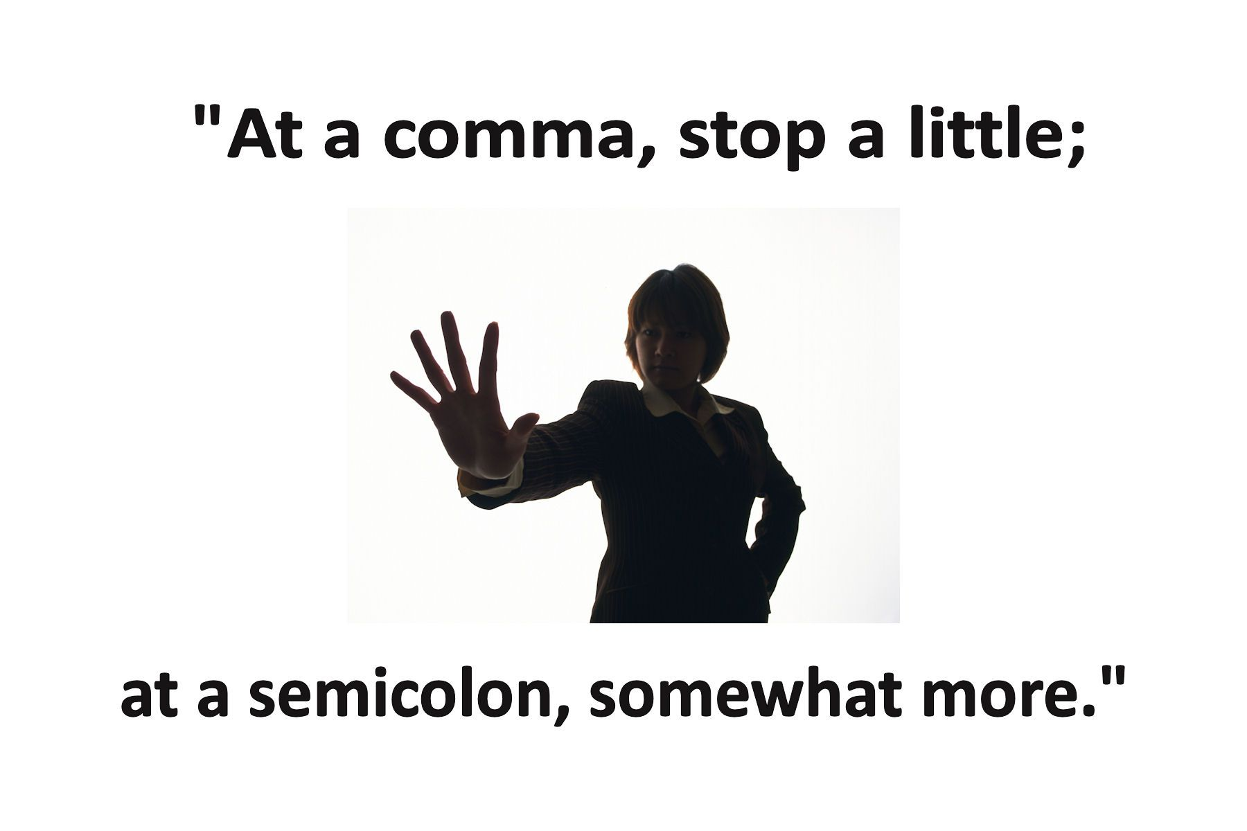 Punctuating with Semicolons: Avoiding the Full-Stop