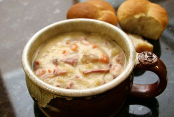 Slow Cooker Corned Beef And Cabbage Chowder