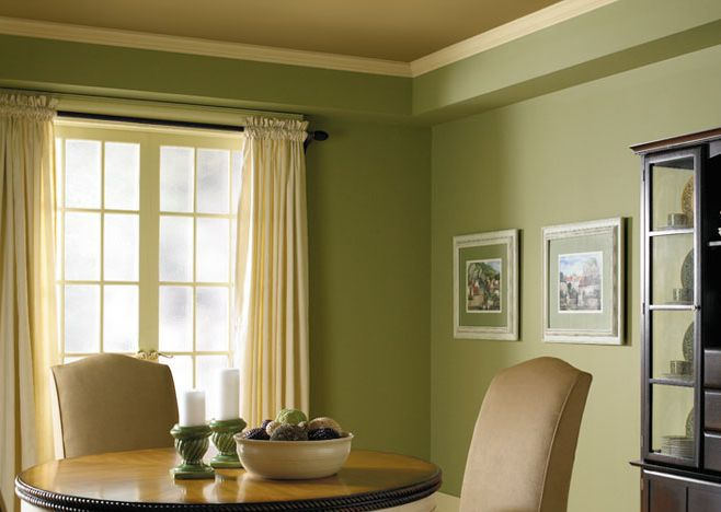 Elegant brilliant dining room colors - Pale green dining room ...