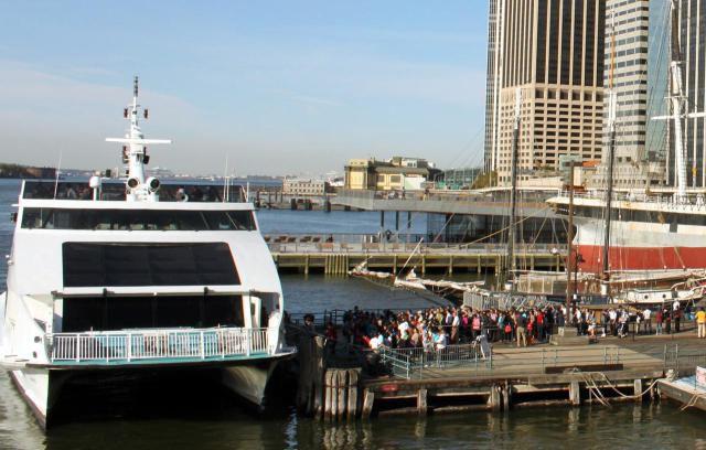 Boarding New York Circle Line Cruise South Street Seaport New York City, NY