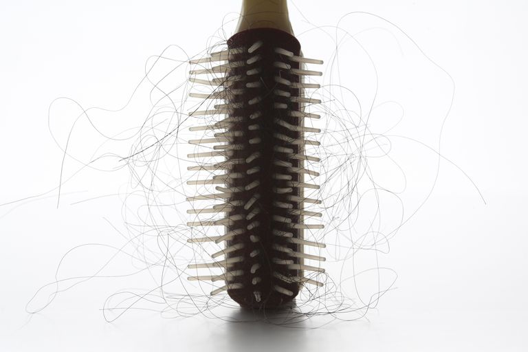 hairbrush with hair