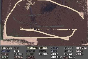 Screenshot of the free online game called Powder Game