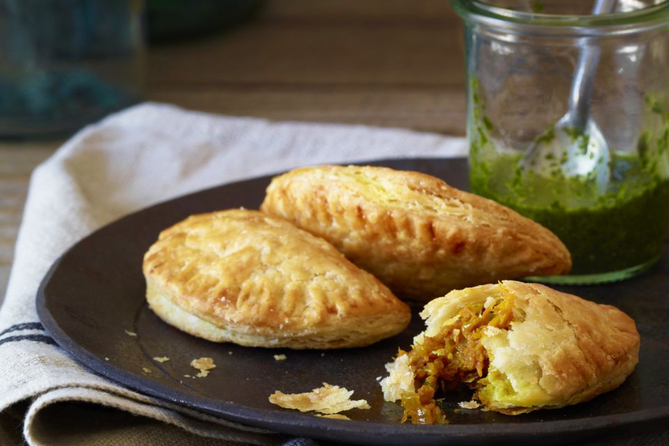 Traditional Empanadas made with pumpkin