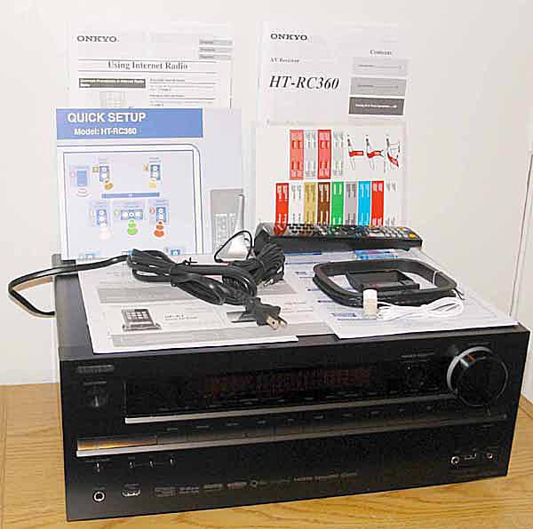 Onkyo HT-RC360 3D Network Home Theater Receiver - Front View with Accessories