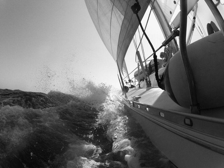 Ship Sailing In Sea