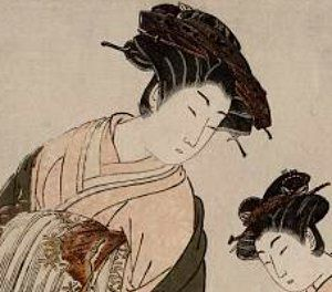 Ancient And Medieval Japanese Womens Hairstyles - Drawing a hairstyle