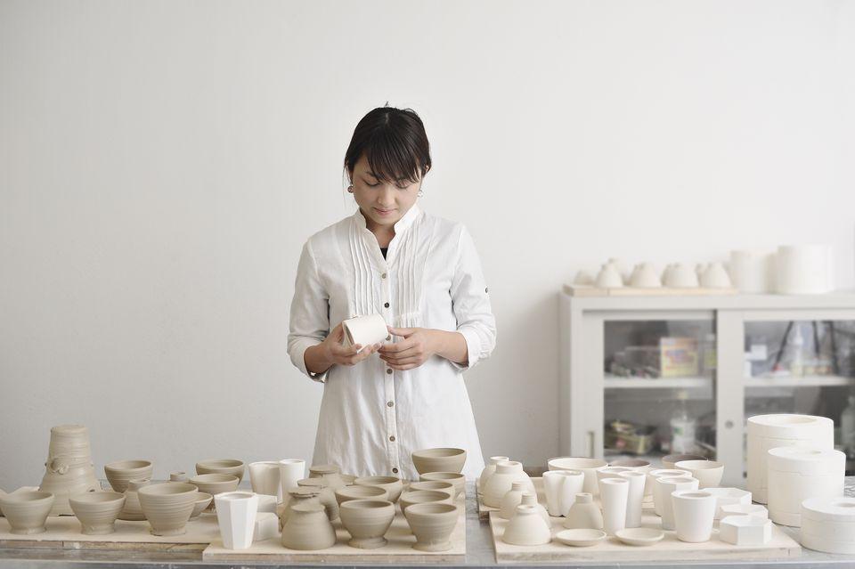 Portrait of female potters