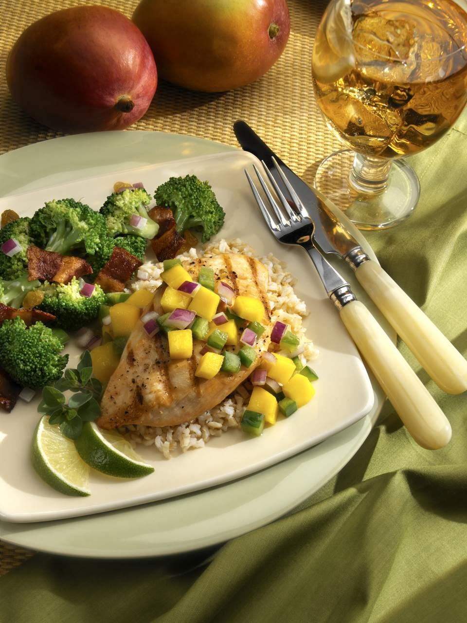 Grilled Chicken Breast with Mango Salsa