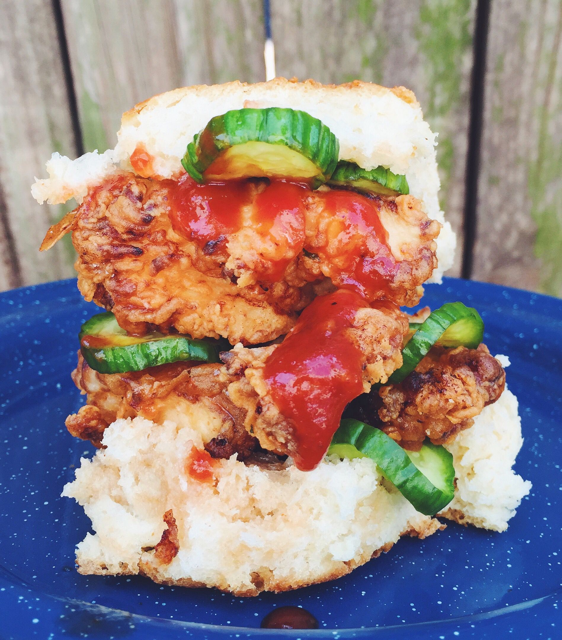 Spicy Chicken Biscuit Sandwiches