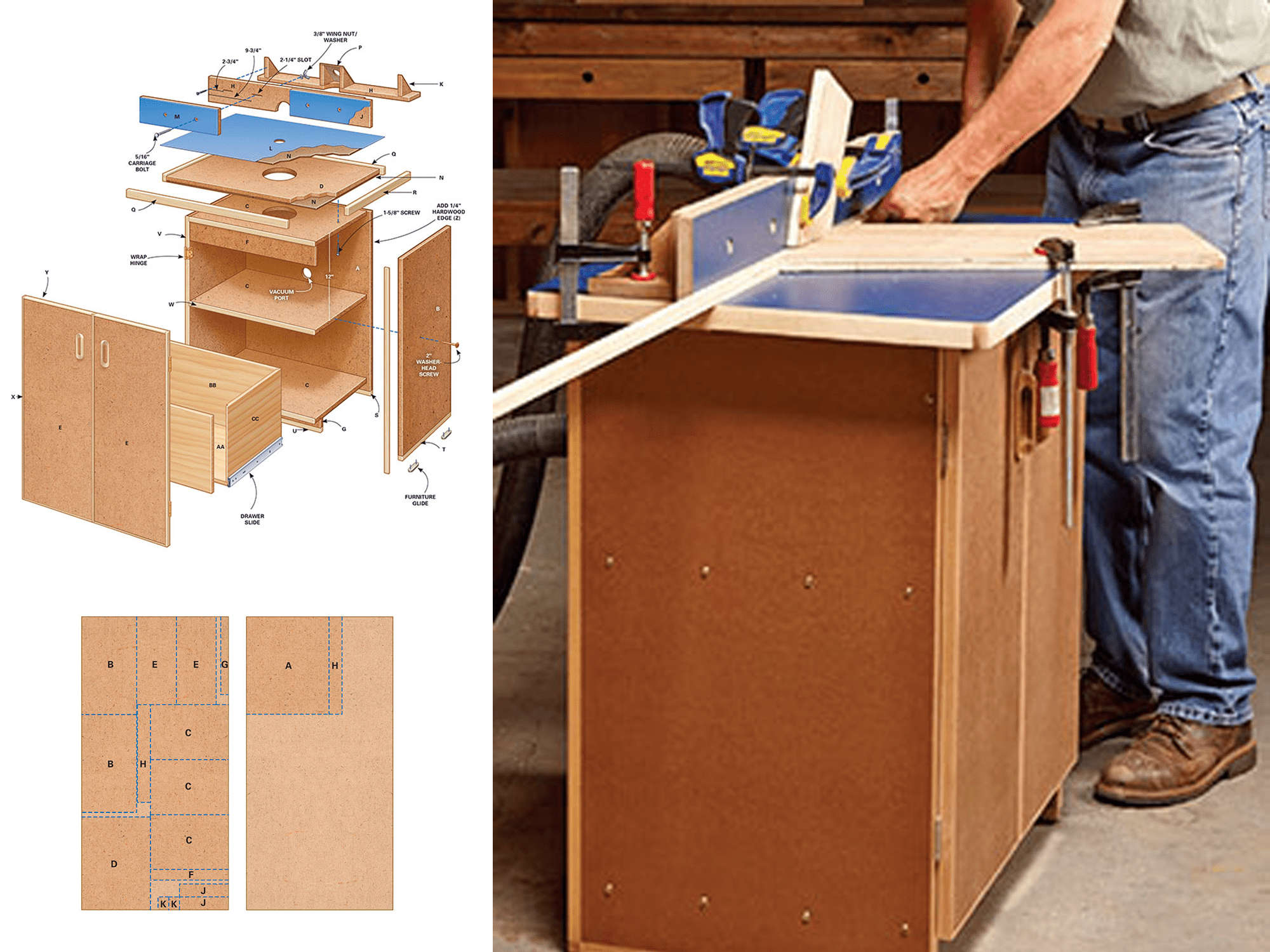 9 free diy router table plans you can use right now keyboard keysfo Images