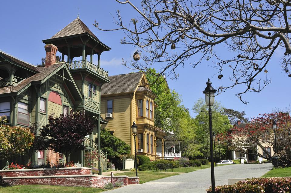 Victorian Houses in Old Town's Heritage Park