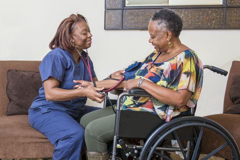 Senior woman having checkup
