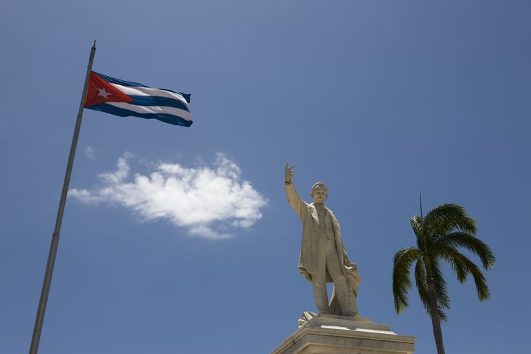Statue of José Martí in Cuba