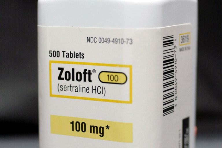 A bottle of antidepressant pills named Zoloft March 23, 2004 photographed in Miami, Florida. The Food and Drug Administration asked makers of popular anti-depressants to add or strengthen suicide-related warnings on their labels as well as the possibility of worsening depression especially at the beginning of treatment or when the doses are increased or decreased.