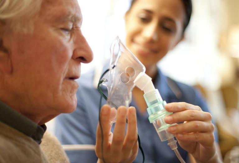 Man getting an oxygen mask
