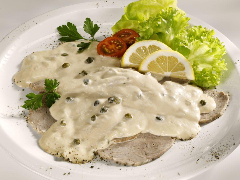 Veal in tuna-caper sauce (Vitello tonnato)