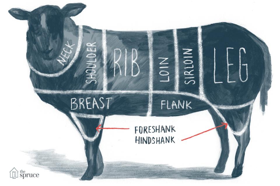 Chart Of Major Lamb Cuts