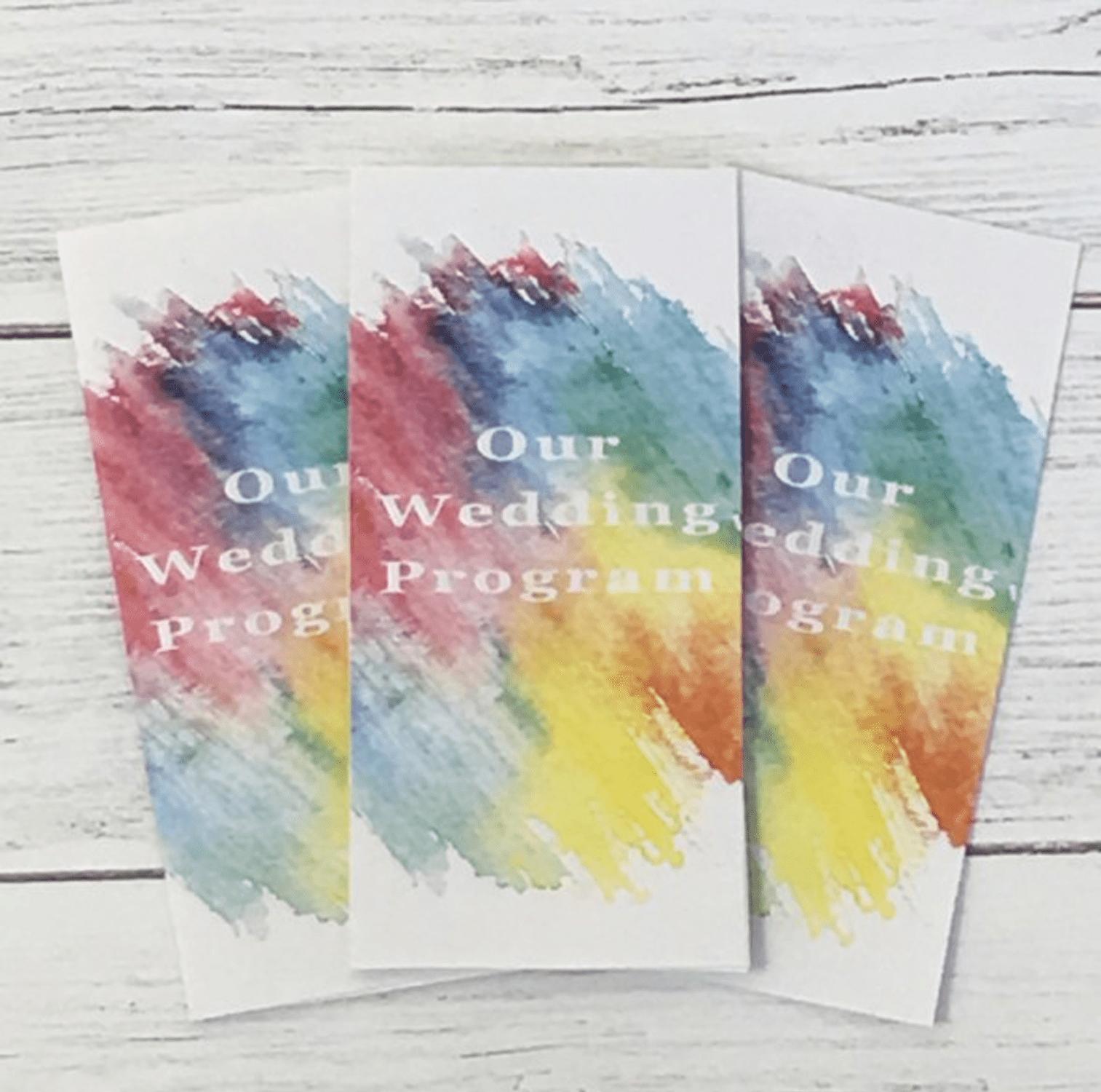 free printable wedding program templates you ll love