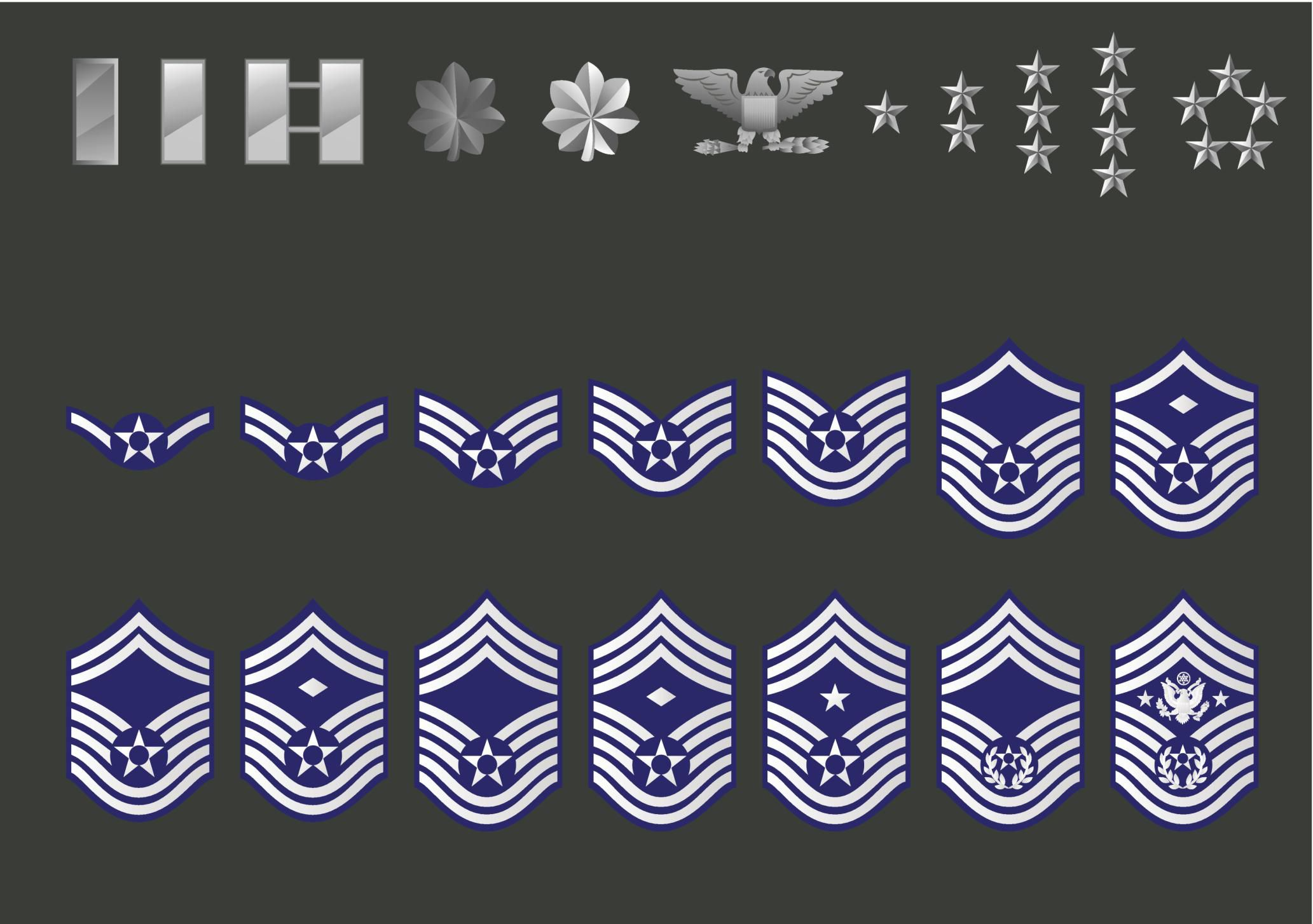 History of air force enlisted insignia rank biocorpaavc