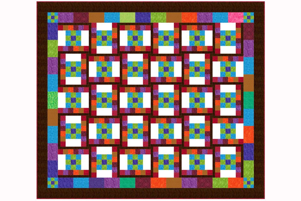 Create Waves with the Dancing Nine Patch Quilt Pattern : quilt pictures - Adamdwight.com