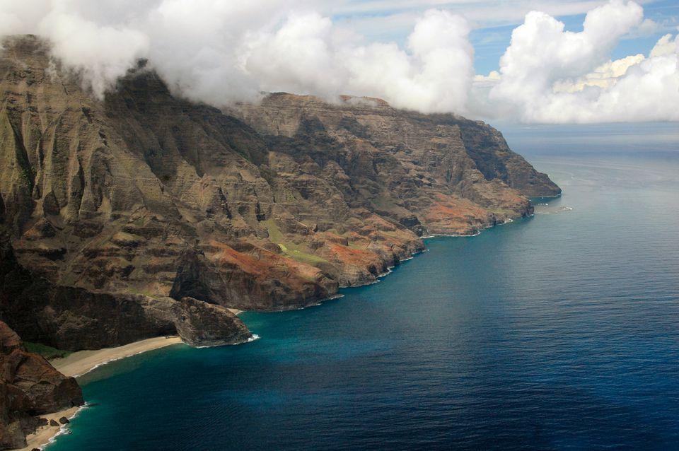 Aerial View of the Na Pali Coast, Kauai