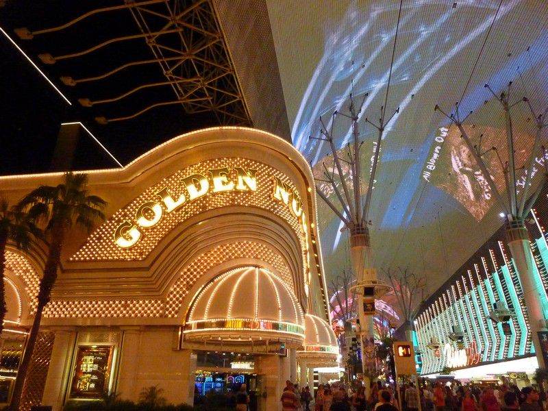 Golden Nugget Hotel on Fremont Street in Downtown Las Vegas