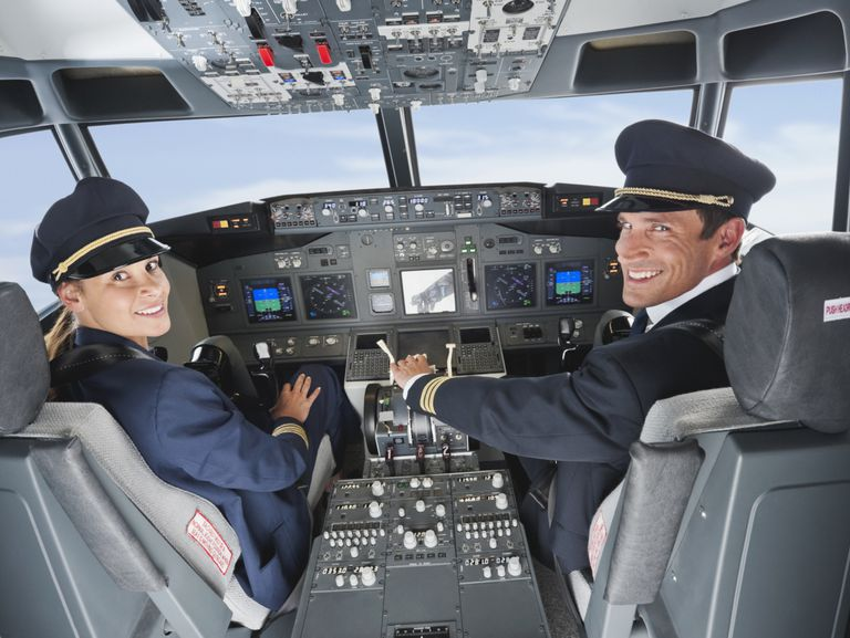 Man and Woman Pilot