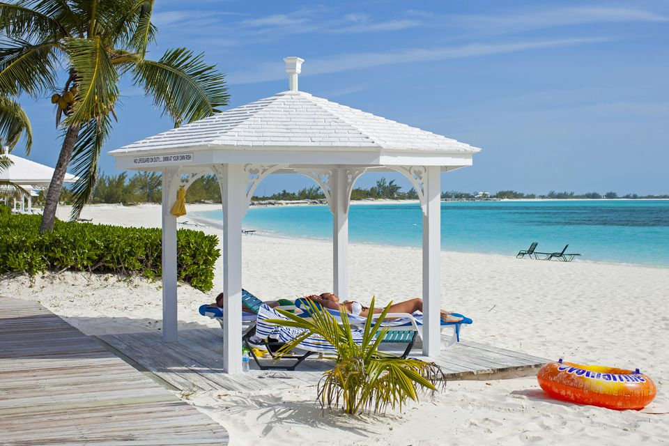 The white sand beaches of the Bahamas are world-famous.