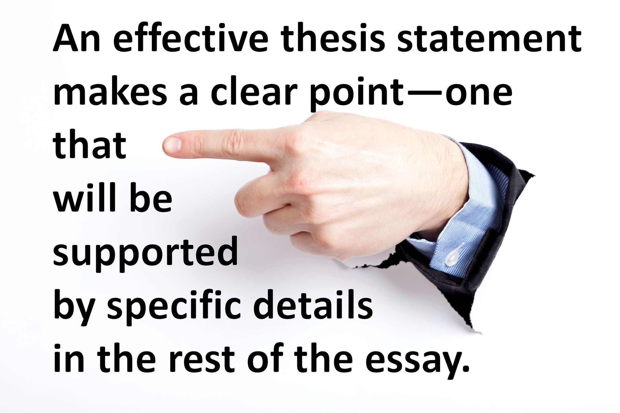 Help writing a thesis statement exercises