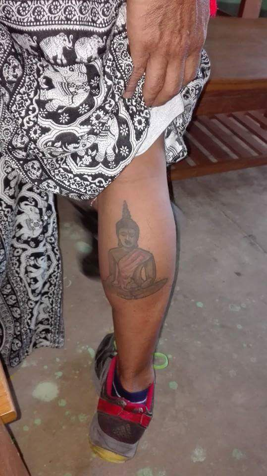 The Buddha leg tattoo that got a Spanish tourist in trouble in Myanmar.