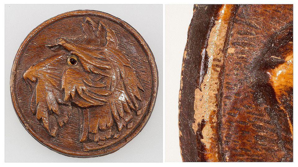 SyrocoWood Example - Wood Pulp Brooch