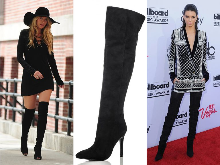 How to wear it: Thigh high and over-the-knee boots
