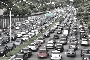 traffic jam in Sao Paulo