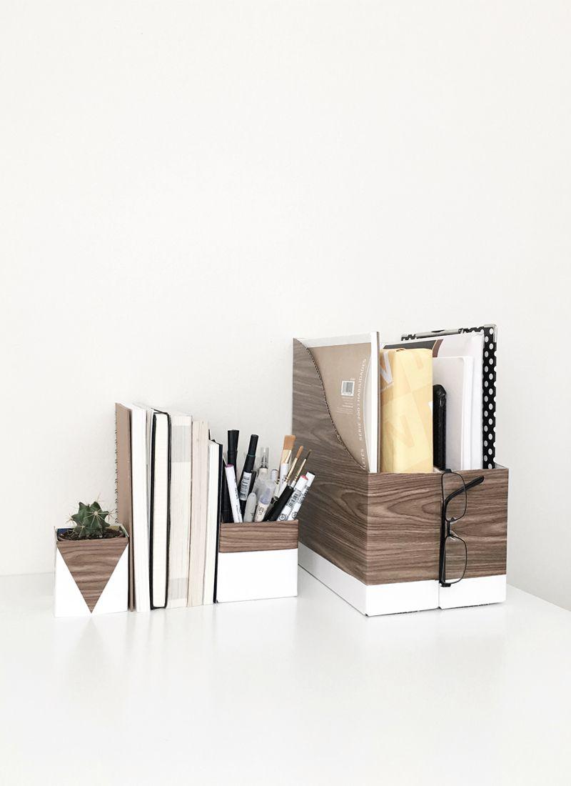 DIY Modern Desk Storage