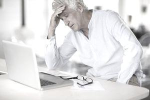 Elderly worried man