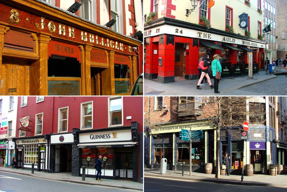 Dublin pubs - there is a surprising amount of variety, and these may be some of the best!