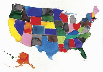 Colorful Map Of The Us