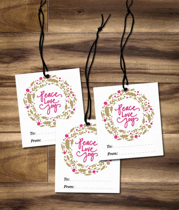 DIY Printable Christmas Wreath Gift Tags