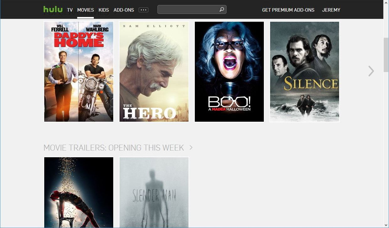 watch movies on hulu