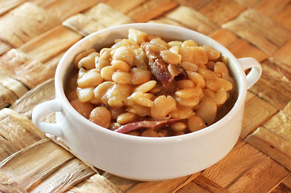 Slow Cooker Baby Lima Beans