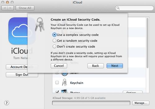 icloud security code