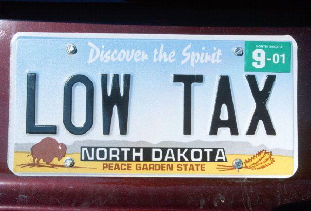 Vanity License Plate - North Dakota