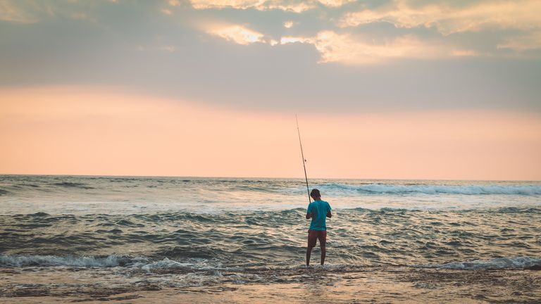Man Fishing from the shore